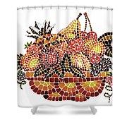 Mosaic Fruits Shower Curtain