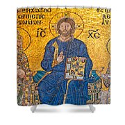 mosaic inside Hagia Sophia  Shower Curtain