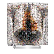 Mosaic Of Chest X-ray Shower Curtain