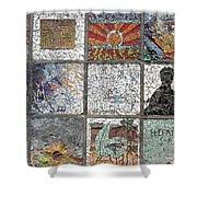 Mosaics Street At Birzeit Shower Curtain