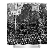 Moscow: Military Parade Shower Curtain