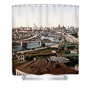 Moscow Russia On The Moskva River - Ca 1900 Shower Curtain