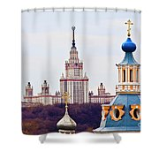 Moscow State Universite  Shower Curtain