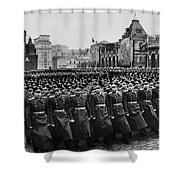 Moscow: Troop Review, 1957 Shower Curtain