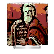 Moses And The 10 Commandments Shower Curtain