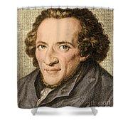 Moses Mendelssohn, German Philosopher Shower Curtain