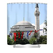Mosque And Flags Shower Curtain