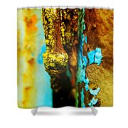 Moss And Rust II Shower Curtain