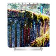 Moss Covered Bridge Shower Curtain