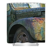 Moss Covered Truck Shower Curtain