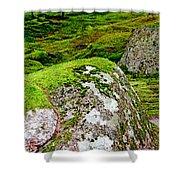 Mossy Rock Garden Shower Curtain