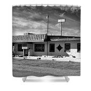 Motel Studios Bw Shower Curtain