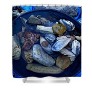 Mother Earth Stones Reloeding Fullmoon Energy In Ice Cold Water Shower Curtain