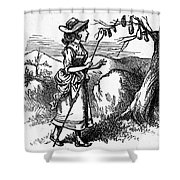 Mother Goose: Bo-peep Shower Curtain