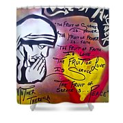 Mother Theresa Fruits Shower Curtain