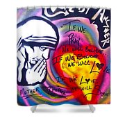 Mother Theresa Praying Shower Curtain