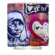 Mother Theresa Service Shower Curtain