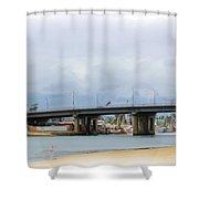 Mothers Beach Shower Curtain