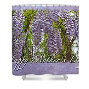 Mother's Day Card - Purple Wisteria Shower Curtain