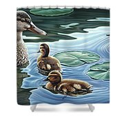 Mother's Watchful Eye Shower Curtain