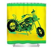Motorbike 1b Shower Curtain by Mauro Celotti