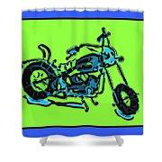Motorbike 1c Shower Curtain