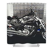 Motorcycle Ride - Two Shower Curtain