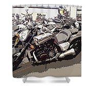 Motorcycle Rides - Five Shower Curtain