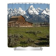 Moulton Barn - Grand Tetons Shower Curtain