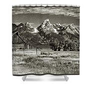 Moulton Barn And The Grand Tetons Shower Curtain