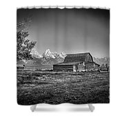 Moulton Barn Bw Shower Curtain