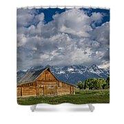 Moulton Barn Morning Shower Curtain