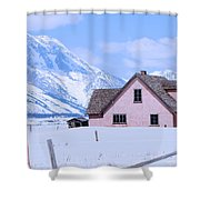 Moulton House In Winter Shower Curtain
