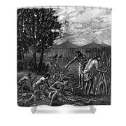 Mound Builders: Farming Shower Curtain
