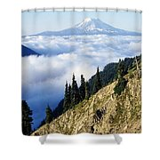 Mount Adams Above Cloud-filled Valley Shower Curtain