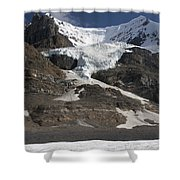 Mount Andromeda And Athabasca Glacier Shower Curtain