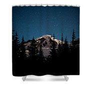 Mount Baker Starry Night Shower Curtain