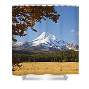 Mount Hood And Autumn Colours In Hood Shower Curtain