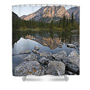 Mount Kidd, Kananaskis, Alberta, Canada Shower Curtain