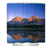 Mount Kidd Reflected In Wedge Pond Shower Curtain
