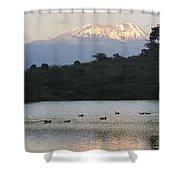 Mount Kilimanjaro Rises Above One Shower Curtain