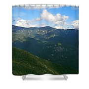 Mount Lafayette From Top Of Cannon Mountain Shower Curtain