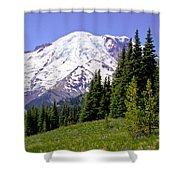 Mount Rainier X Shower Curtain