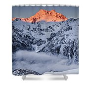 Mount Rolleston In The Dawn Light Shower Curtain