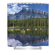 Mount Rundle And Boreal Forest  Shower Curtain