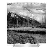Mount Rundle Banff National Park Shower Curtain