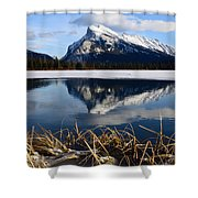 Mount Rundle In Winter Shower Curtain