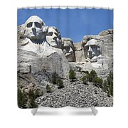 Mount Rushmore Vertical Shower Curtain