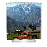 1941 Willys Week End Project Under Mount San Jacinto  Shower Curtain