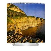 Mount St Alban Cliffs At Sunset Shower Curtain